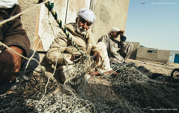 Image of fishermen of Abdul Rehman Goth.