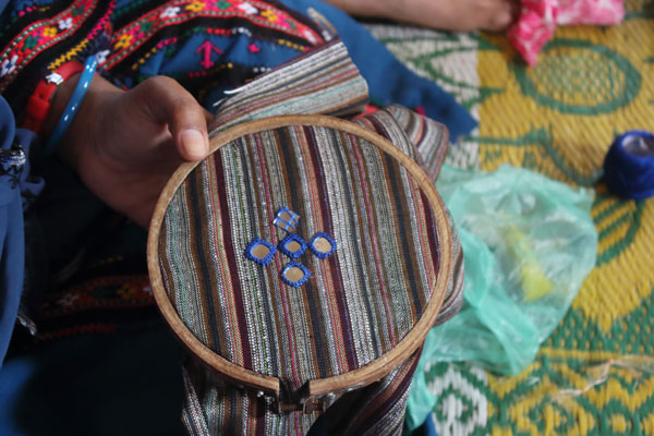 Image of handicraft made from ghost nets