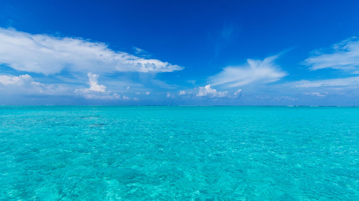 Maldives hues of blues sea and sky