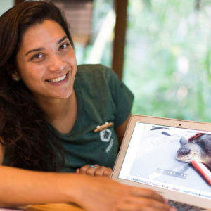 Portrait of Dr. Claire Petros, Sea Turtle Veterinarian Surgeon with the Olive Ridley Project