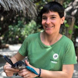 Portrait of Dr Pera Sinkovec with the Olive Ridley Project