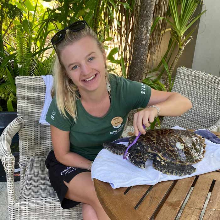 Laura Whiteley, ORP Sea Turtle Biologist, Photo