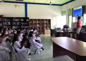 ORP's Shameel teaches turtles at a school in Kelaa, Maldives