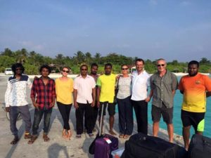 ORP's sea turtle reseach expedition team ready to leave Kelaa