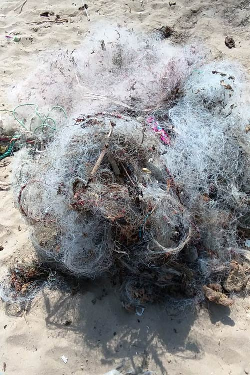 Ghost net recovered near Abdul Rehman Goth