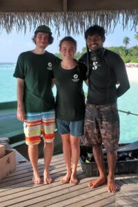 Brian with Dr Claire and Sam, ready for an underwater adventure