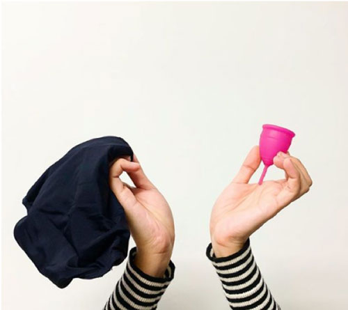 Tips to reduce your plastic waste: consider reusable menstrual products.