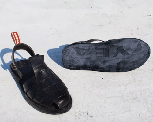 Recycled tyre soled shoes by Ardsy