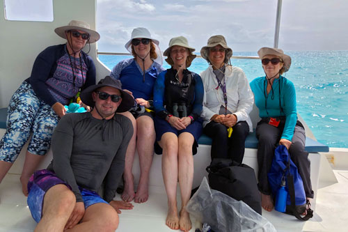 The Expedition Team on the first boat trip