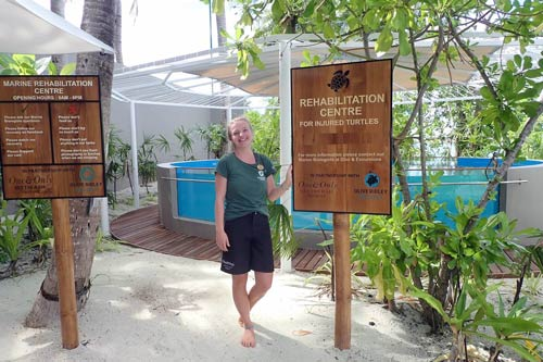 ORP Sea Turtle Biologist Laura Whiteley at the new Rehabilitation Centre.