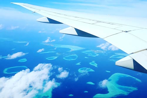 Aerial view of Maldives ©Shiva Sawmy