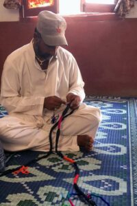 Ghost net dog leash production in action by Asif Baloch, ORP Pakistan