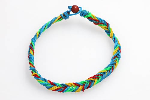 Ghost net bracelet made by ORP and Nasheman, an ethical fashion brand.