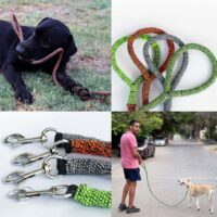 The Ghost Leash - a dog leash made of ghosr gear. Image.