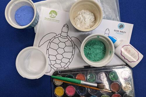 Sea turtles activity bundle indoor activity example. Image.